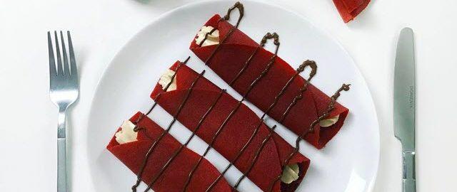 Блины красный бархат