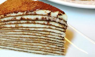 Блинный торт «Тирамису»