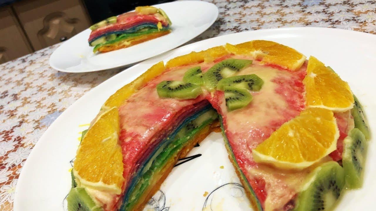 Блинный торт Радуга