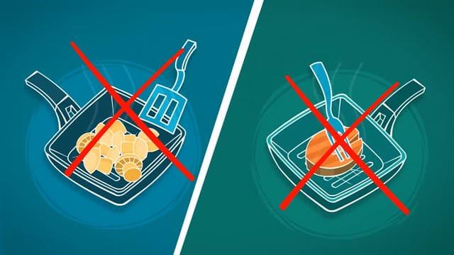 Не использовать металлические лопатки
