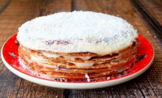 Блинный торт «Медовик» на сковороде